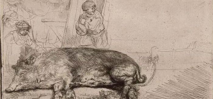 """卢浮宫里与""""猪""""有关的诙谐作品"""
