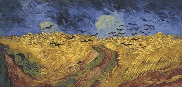 《乌鸦和麦田》1890