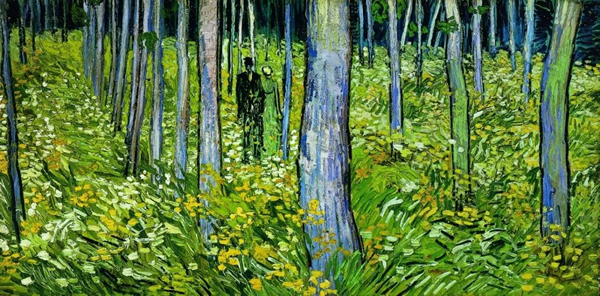 《灌木丛和两个人》1890