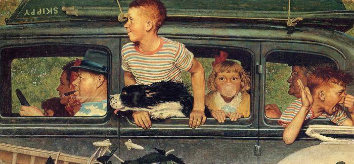 喜欢画孩子的诺曼·洛克威尔