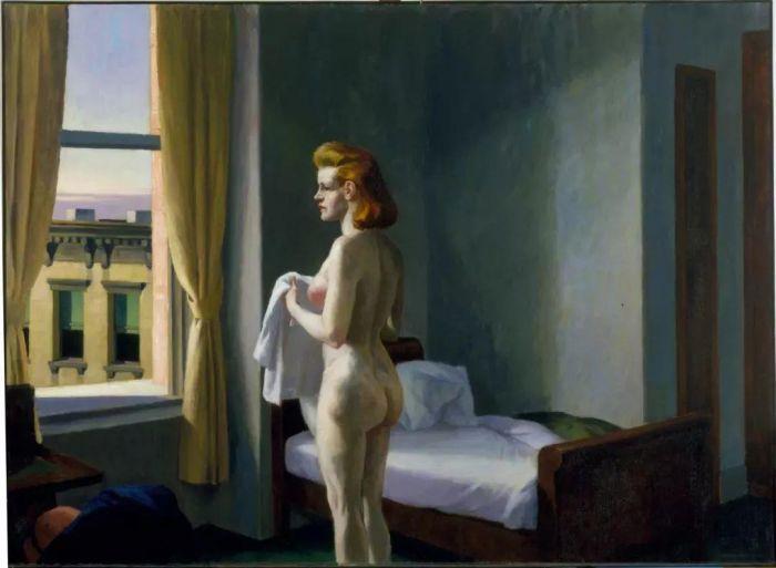 孤独者爱德华?霍普与他的文学想象,文学,孤独者,爱德华?霍普,霍普,弗罗斯特,爱德华,油画,诗歌,夜晚,诗人