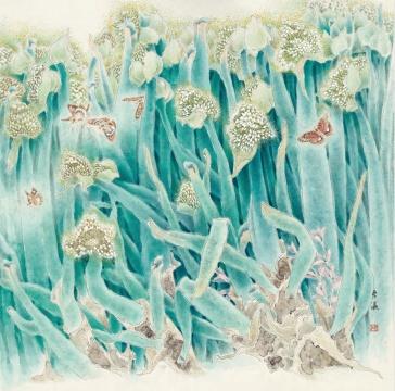 《回春》 67cm×67cm 1992年 纸本设色