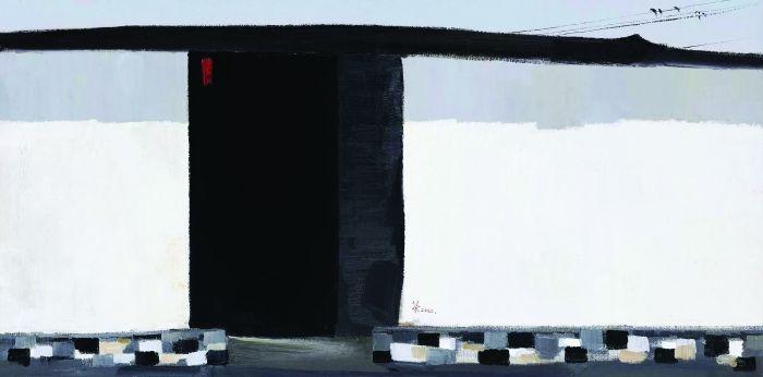 吴冠中2002年作 秋瑾故居 布面 油画RMB %E3%80%8074,750,000北京保利2011年秋季拍卖会