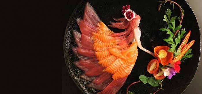 """用生鱼片筑造的""""童话王国"""""""