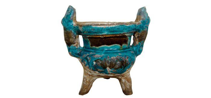 古拙质朴的明代法华彩釉香炉