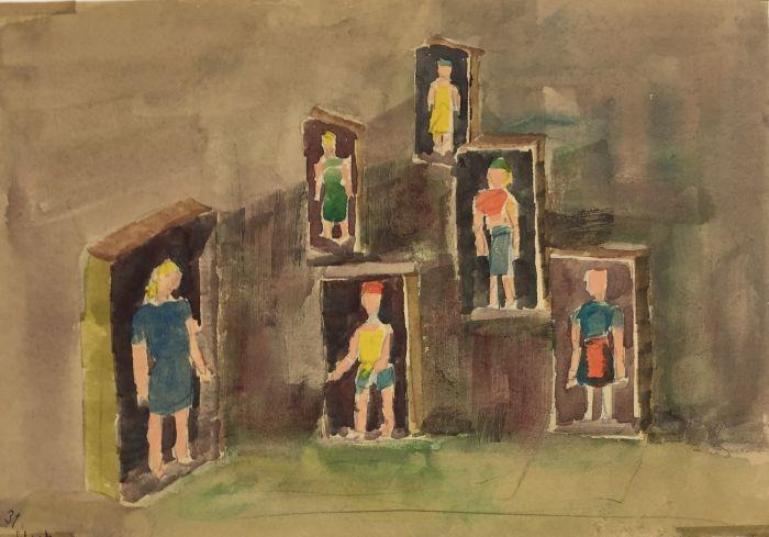 Adolf_Bierbrauer,_Case_N.,_1952,_Hypnosis_painting,_21_cm_x_30_cm,_conceptual_art,_contemporary_art