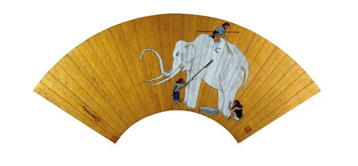 清宫画中的《洗象图》