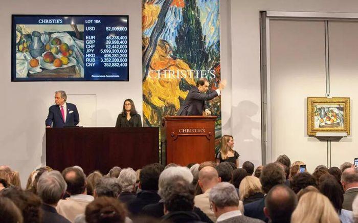 塞尚《水果与水壶》近6000万美元成交-古董收藏