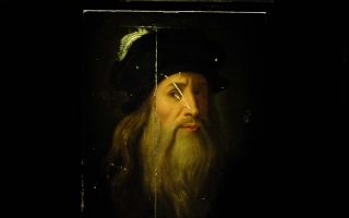9月 木板油画《达·芬奇自画像》登陆美院