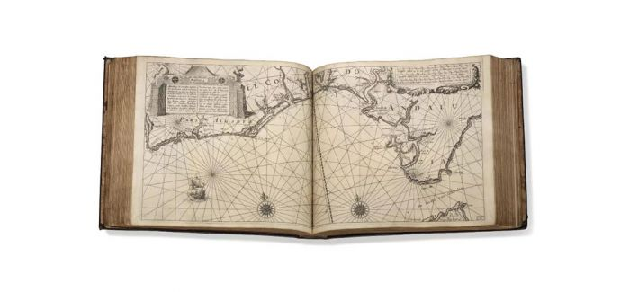 莫贝利亚珍藏珍罕海图册和旅游书籍上拍佳士得