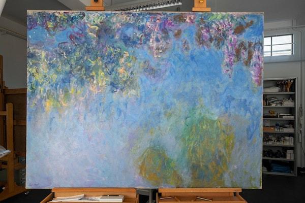 荷蘭發現一幅新的莫奈《睡蓮》,被覆蓋《紫藤花》下