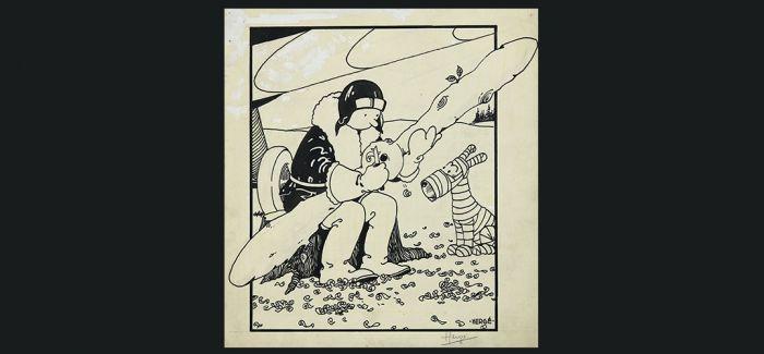 112万美元 《丁丁历险记》首张封面画原稿落槌
