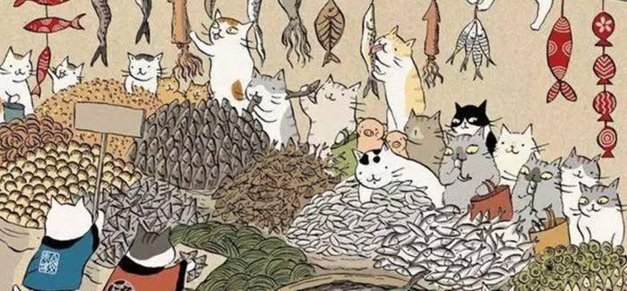 浮世绘里的猫世界