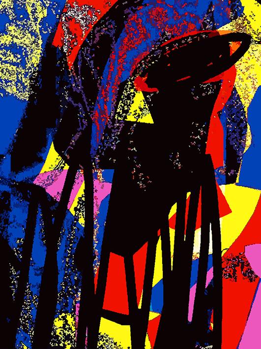彝族风情系列4,布面打印,80x100cm