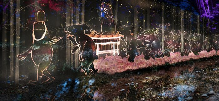 "teamLab在世界文化遗产地打造""光的盛宴"""