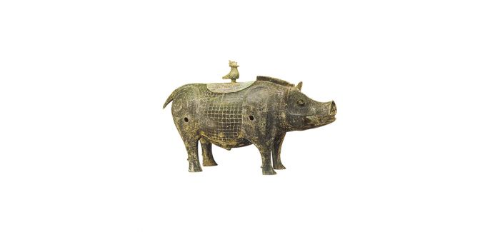 可萌可端庄的商周时期猪形青铜器