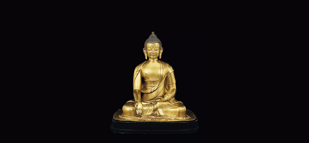 尼泊尔鎏金铜宝生佛造像上拍佳士得