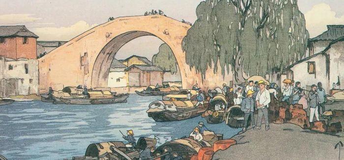 油画上的诗意大运河
