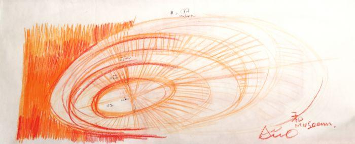 安藤忠雄设计和美术馆手稿2,©和美术馆