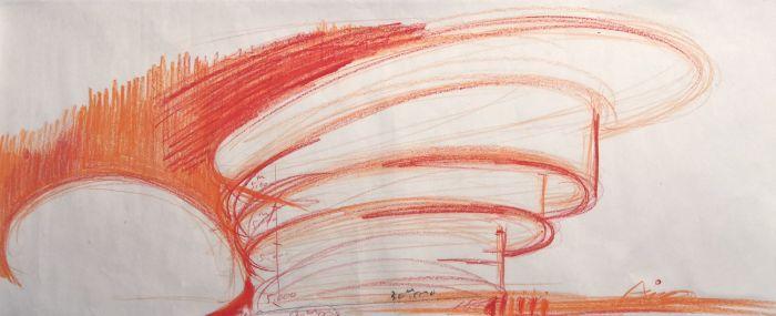 安藤忠雄设计和美术馆手稿1,©和美术馆