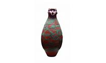 穿越5500年的人头形器口彩陶瓶