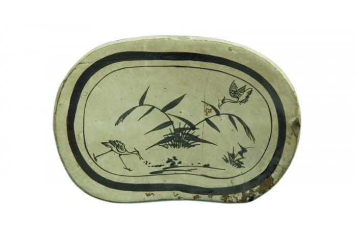 图2 宋代白地黑花芦苇鹭鸶纹瓷枕