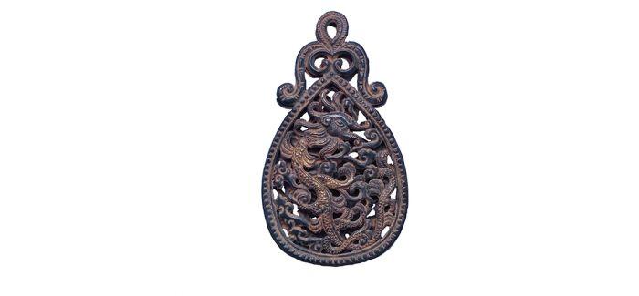 含蓄典雅的宋代银鎏金龙纹霞帔坠