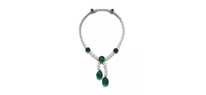 卡地亚祖母绿配钻石项链上拍日内瓦苏富比