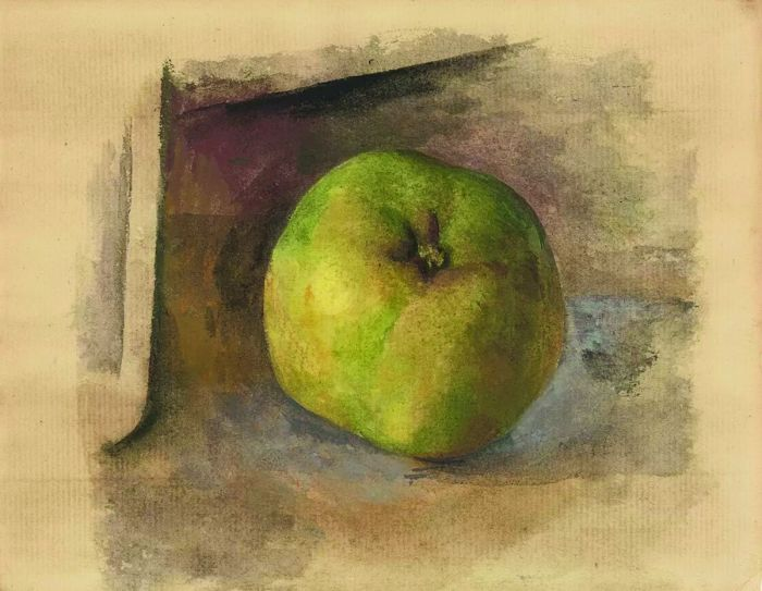 毕加索的水彩苹果