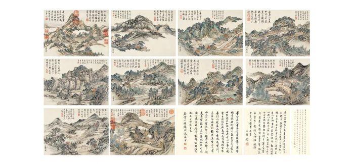 石渠宝笈著录的《金陵十景图册》来京巡展