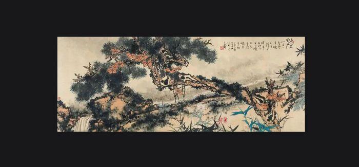 """潘天寿""""一棵松树""""2亿多!"""