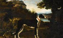 """""""西洋古典油画""""拍场上的骏犬图"""