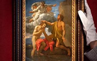 尼古拉斯·普桑《基督受洗》亮相西洋古典油画晚拍