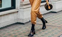 时髦精们冬日下装:显瘦又显高的奶奶裤