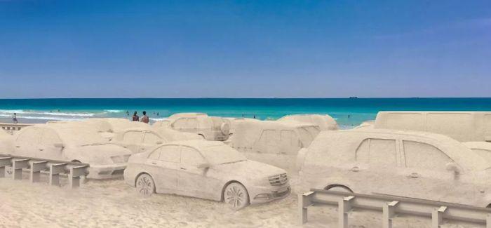 """迈阿密海滩上的""""拥堵"""""""
