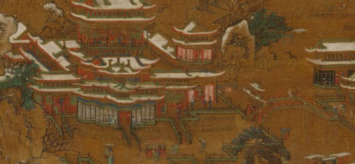 浅聊《京畿瑞雪图纨扇》中的风景