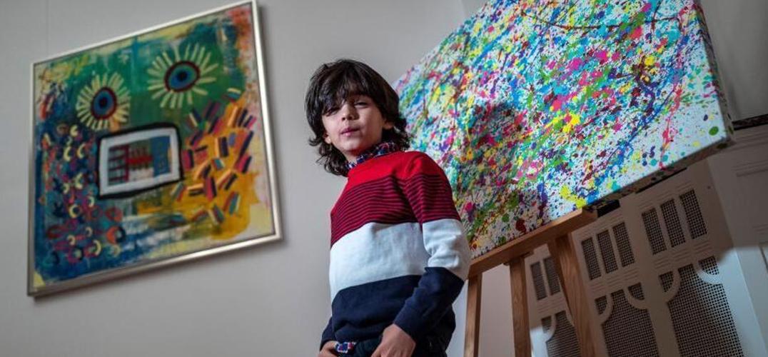7岁画童与毕加索相提并论 一幅画卖1.1万欧元
