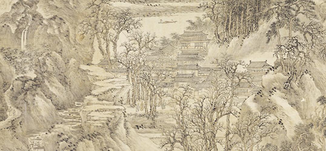 台北故宫以巨幅画作迎新春