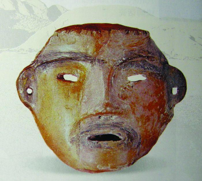 图2 陕西宝鸡牛河梁仰韶文化遗址发掘出土陶塑人面像