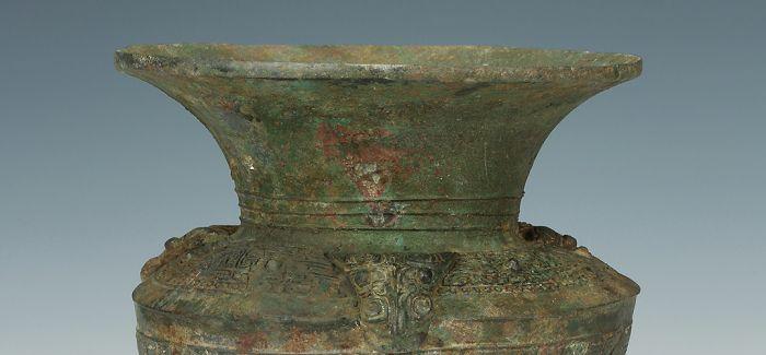 构思巧妙的西周兽面纹青铜酒器