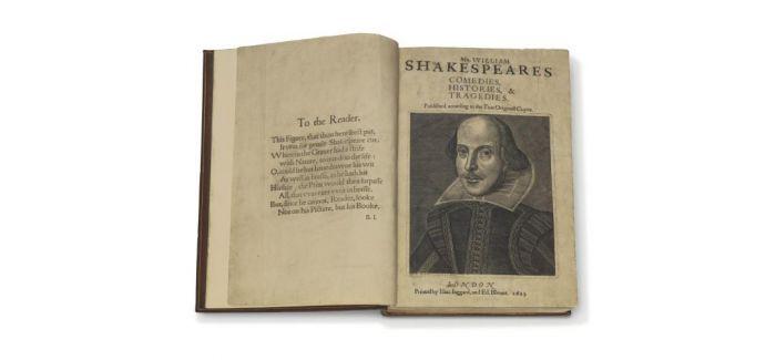 莎士比亚《第一对开本》 四月上拍