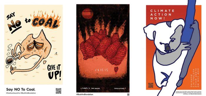 78张海报呼吁正视森林大火与气候变迁