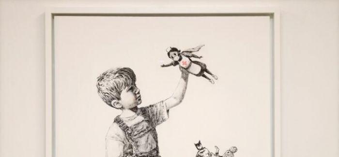 图片艺闻 | Banksy 涂鸦新作致敬医护人员