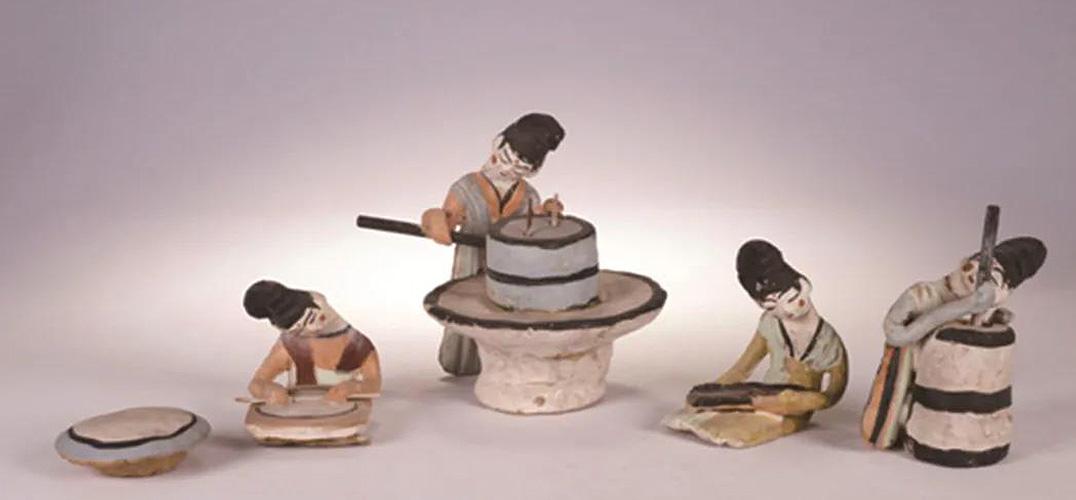劳动泥俑:重现唐代美食制作