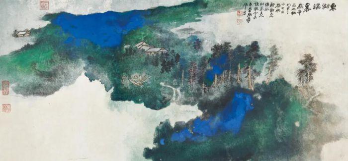 """""""中国近现代及当代书画""""呈献张大千《东湖瑞翠》"""