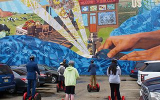 费城中的壁画风情
