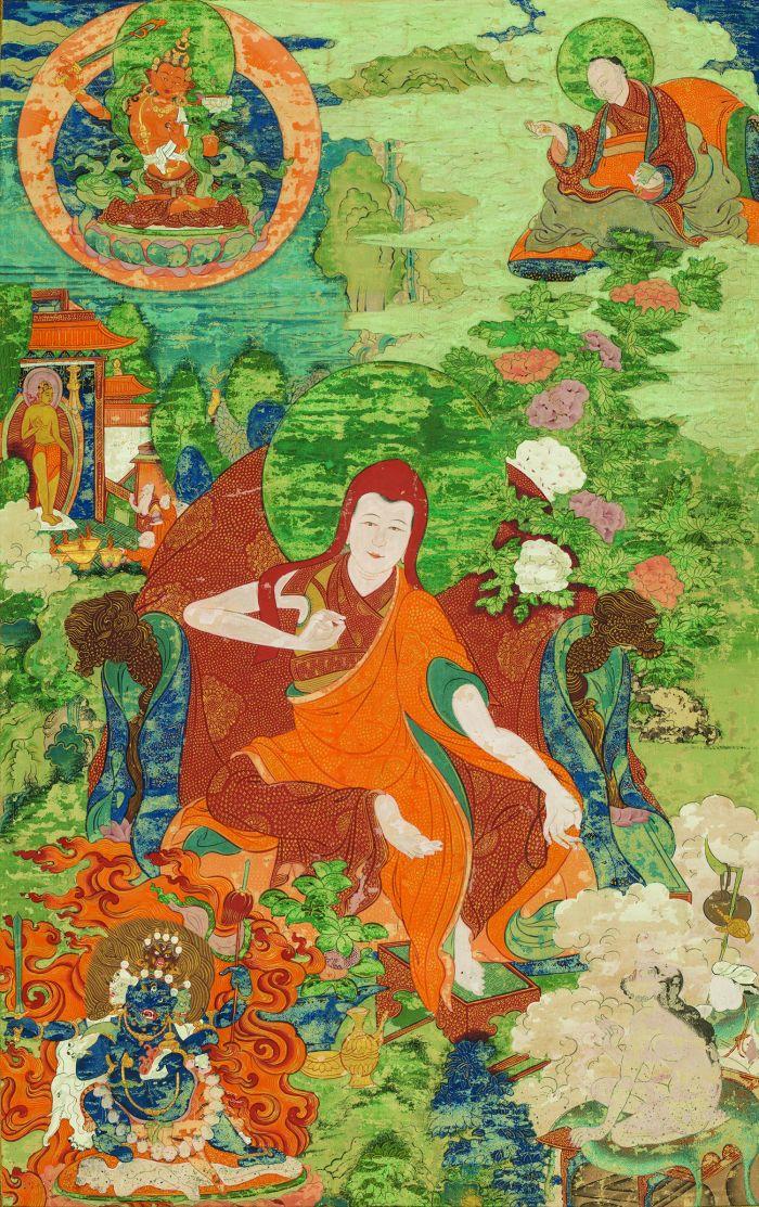 A清代班禅喇嘛源流——萨迦班智达,纵65厘米,横41厘米