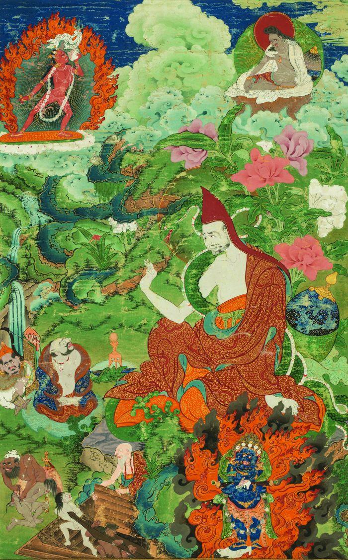 A清代班禅喇嘛源流——阿跋迦罗,纵67厘米,横42厘米