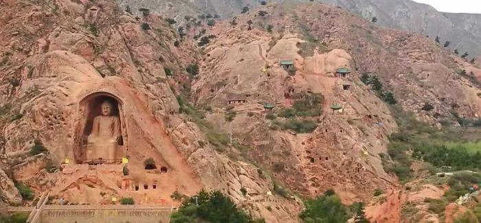 宁夏弥山石窟首次发现双层壁画