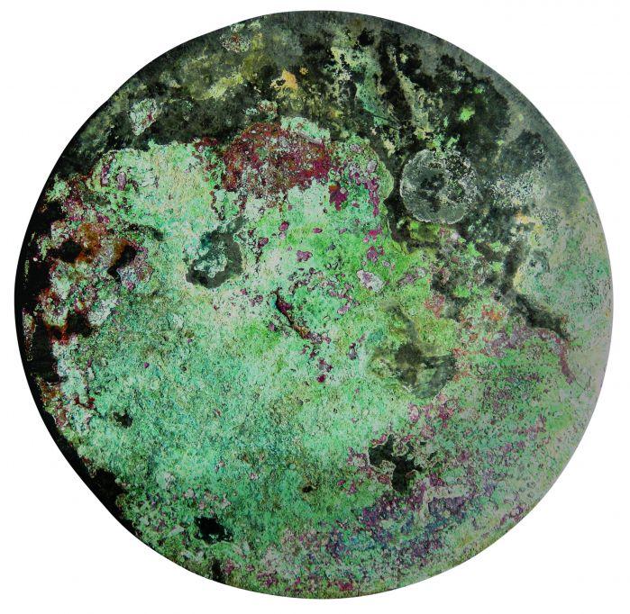 34字汉代铜华铭文铜镜正面